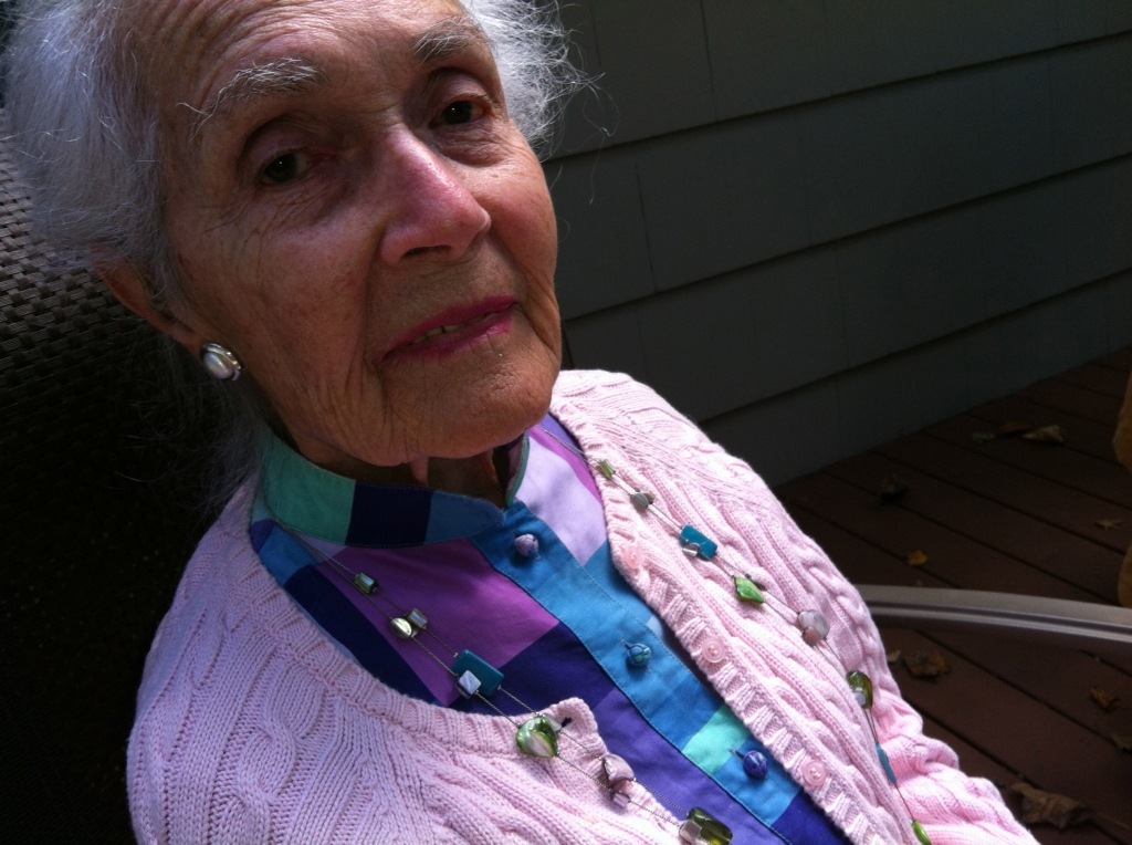 Mom at 96, September 2012.
